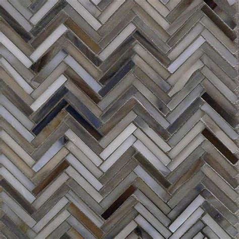 Detroit blues herringbone mosaic glass tile at the tilery your new england and cape cod