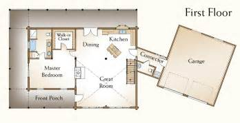 Log Cabin Open Floor Plans by Log Home Plans 171 Real Log Style