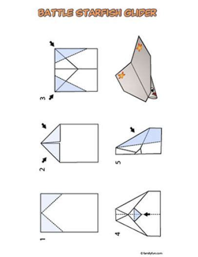 Origami Glider Plane - how to make a paper airplane how to make a paper