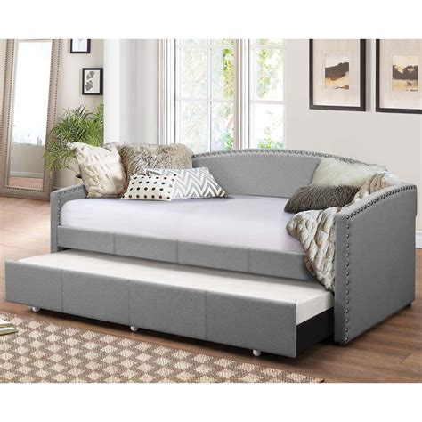 Daybed Sofa With Trundle by Wholesale Interiors Baxton Studio Daybed With Trundle