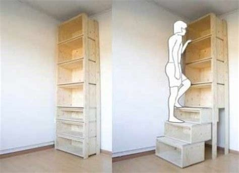 Step Ladder Bookcase Stair Step Bookcase No Need For Step Ladder To Reach Shelves Home Organization And