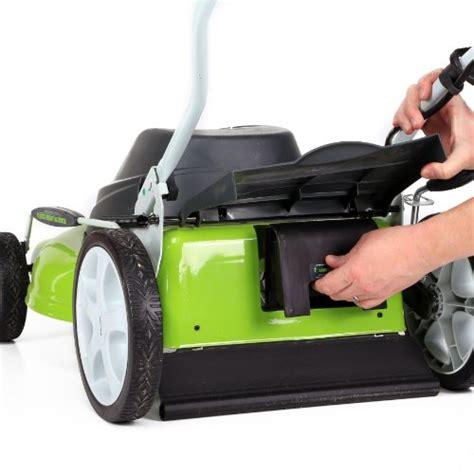 greenworks 25022 lawn mower electric lawn mowers