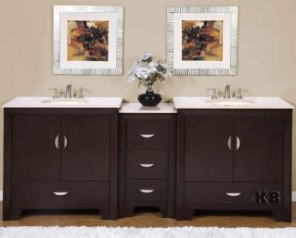High Quality 89 Quot Bathroom Vanity With Marble Top Double Sink High Quality Bathroom Vanity