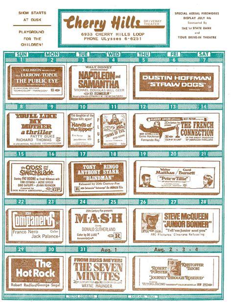 Theater Calendar Drive In Theater Calendars