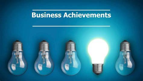 business achievements erfolge resultater