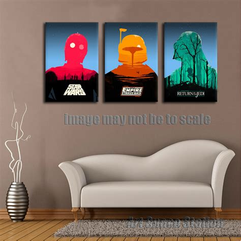 star wars living room star wars empire movie poster modern abstract canvas print