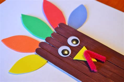 how to make a turkey craft project thanksgiving turkey craft sticks craft for