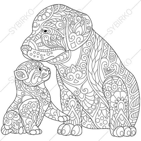 cat zentangle coloring page adult coloring page cat and dog zentangle doodle