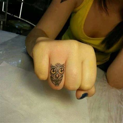owl finger tattoo owl get my ear likes