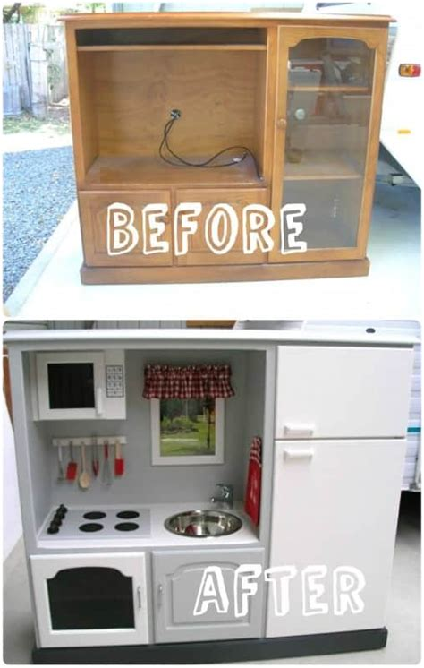 play kitchen from tv stand recyclart