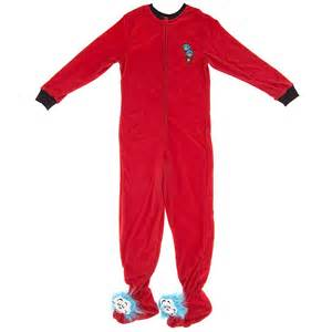 thing one and thing two footed pajamas for footed