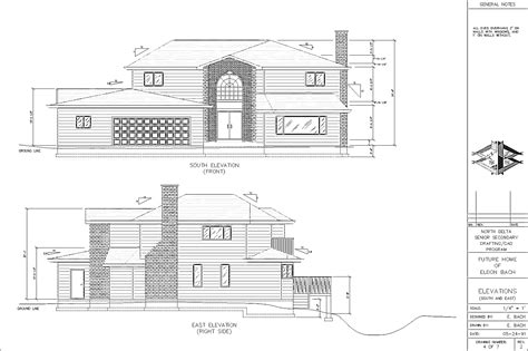 Plan Section Drawing by Civil Plan Elevation Studio Design Gallery Best Design