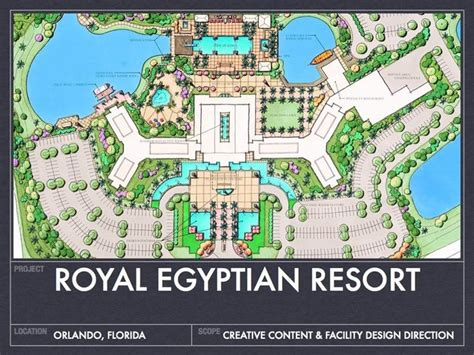 hotel design layout and landscaping resort parking design plan royal egyptin resort master
