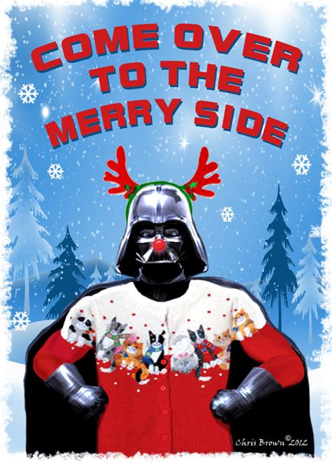 star wars christmas cards dart vader christmas by