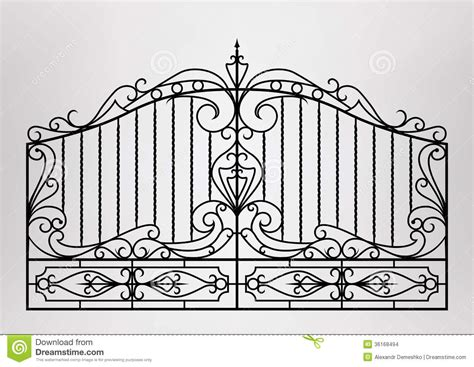 Modern Victorian House Plans forged gate stock images image 36168494