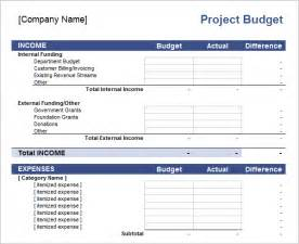 Project Budget Template Excel Free Excel Project Budget Templates 2016