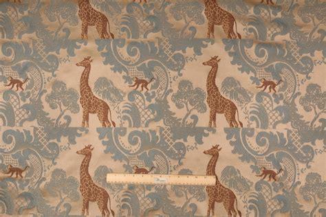 needlepoint fabric upholstery giraffe tapestry upholstery fabric in ocean