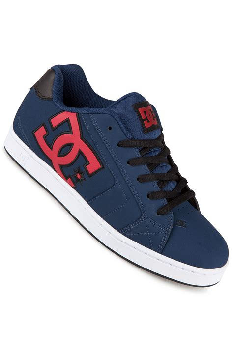 dc net leather shoe navy buy at skatedeluxe