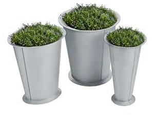 flower pots aluminium flower pot segment by nola industrier design