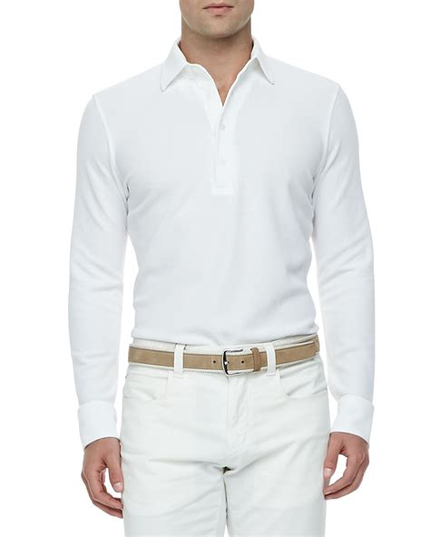 T Shirt Huck Express lyst loro piana huck cotton pique sleeved polo