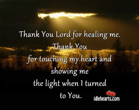 where is the let there be light showing thank you lord for healing me