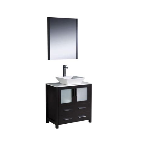 vessel sink vanity home depot fresca torino 30 inch w vanity in espresso finish with