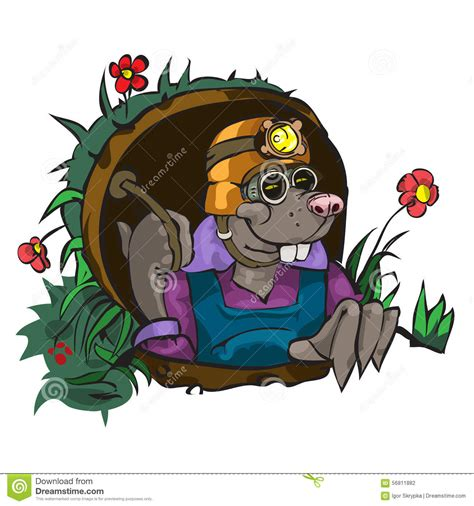 topito terremoto little mole 8448847903 cartoon character mole vector illustration cartoondealer com 56811882