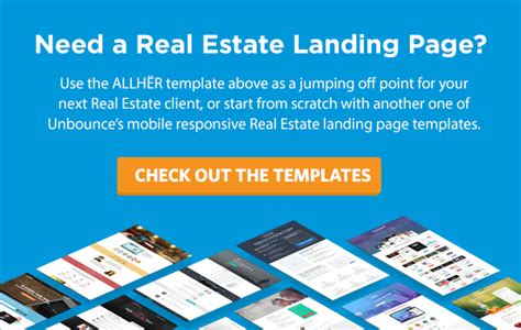 Data Backed Advice For High Converting Real Estate Landing Page Design Free Template Real Estate Page Template