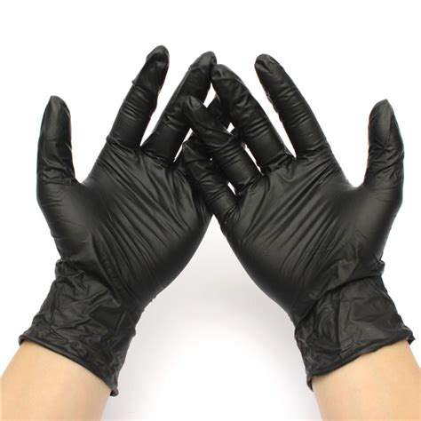 hand tattoo glove cover 100 pcs black medical industrial disposable nitrile tattoo