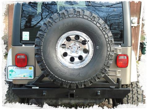 Jeep Wrangler Tire Carrier Atoz Fabrication Rear Receiver Bumper Tire Carrier For