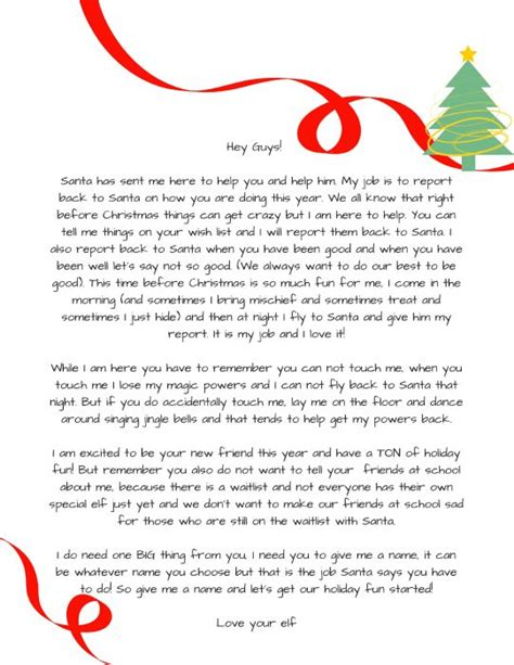 printable magic elf letters how to introduce elf on the shelf to your kids