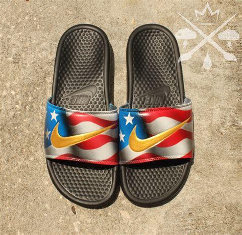 custom slide sandals nike custom american flag united states benassi swoosh slide