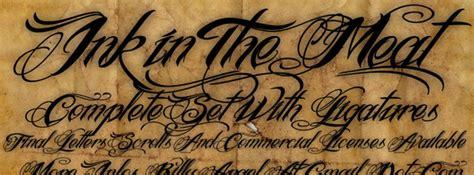 tattoo fonts no download 30 cutting edge fonts nenuno creative