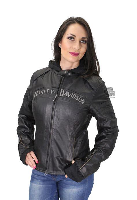 Harley Davidson 6639 3time Black Leather 1 98030 12vw harley davidson 174 womens miss enthusiast 3 in 1 black leather jacket barnett
