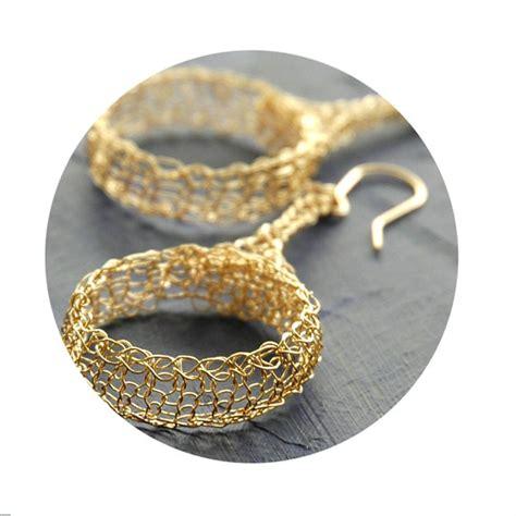 Handmade Earrings Designs Unique - tribal design earrings wire crocheted large dangle hoop