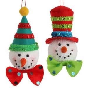 4 ft snowman christmas tree snowman ornaments set of 2 7 5 inch sd3220000 new raz ebay