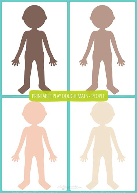 people play dough mats free printable picklebums
