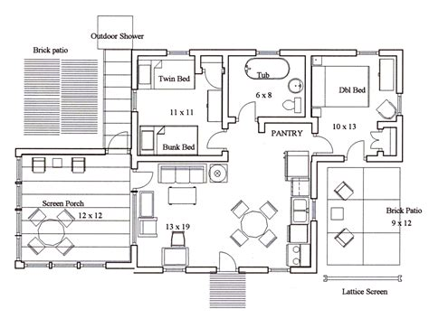 kitchen house plans the island house floor plan