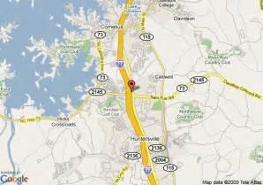 map of quality inn huntersville huntersville