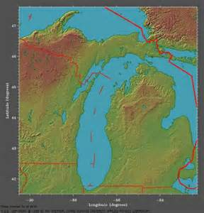 Michigan Topographic Map by Chassell Maps