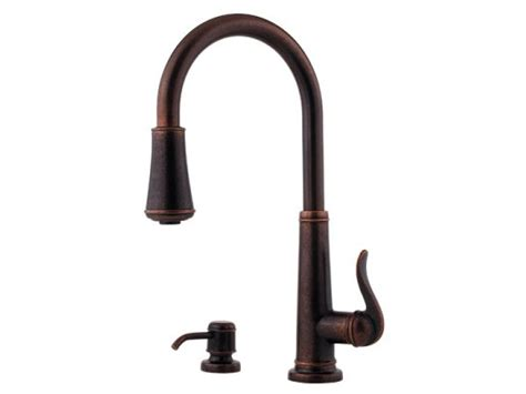 Rustic Bronze Kitchen Faucet With Pull Out Spray   PP GT529 YPU
