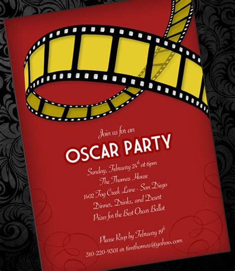 free templates for hollywood invitations diy oscar party invitation template from downloadandprint