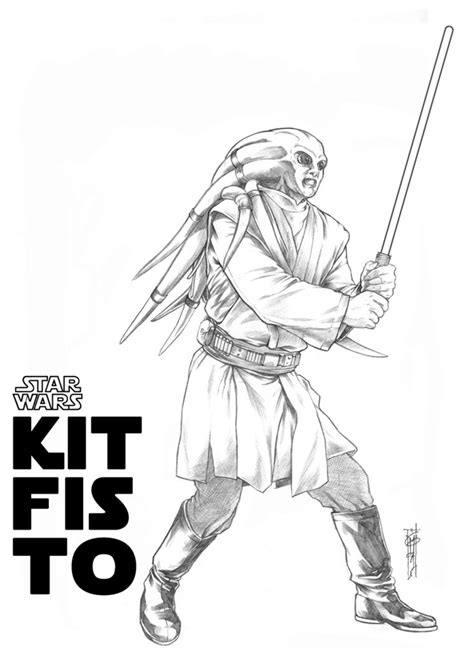 Kit Fisto Coloring Pages kit fisto by thegerjoos on deviantart
