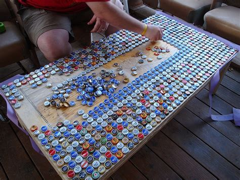 how to make a bottle cap table make a bottle cap table this would be so cool using coca