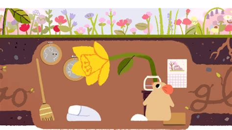 spring equinox google doodle when does the season really spring equinox 2017 google doodle marks 1st day of spring