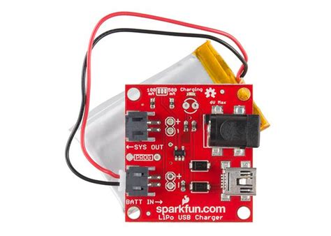 Sparkfun Usb Lipoly Charger sparkfun usb lipoly charger single cell robot gear