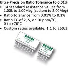 ultra precision resistor network caddock s ultra precision voltage divider networks