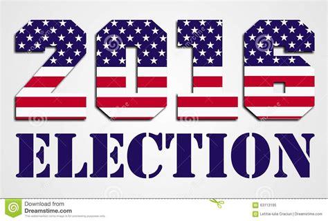 Us Wahlkf 2016 In Bildern - usa wahl 2016 stock abbildung bild 63113195