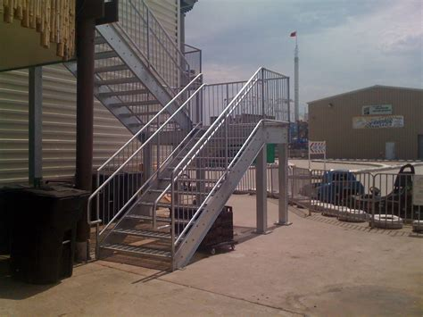 exterior stairs galvanized exterior steel staircase mitchell welding and