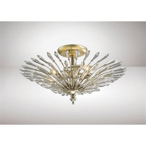 Flush Fitting Ceiling Lights Uk Diyas Fay 3 Light Semi Flush Ceiling Fitting In Aged Silver And Finish Lighting Type